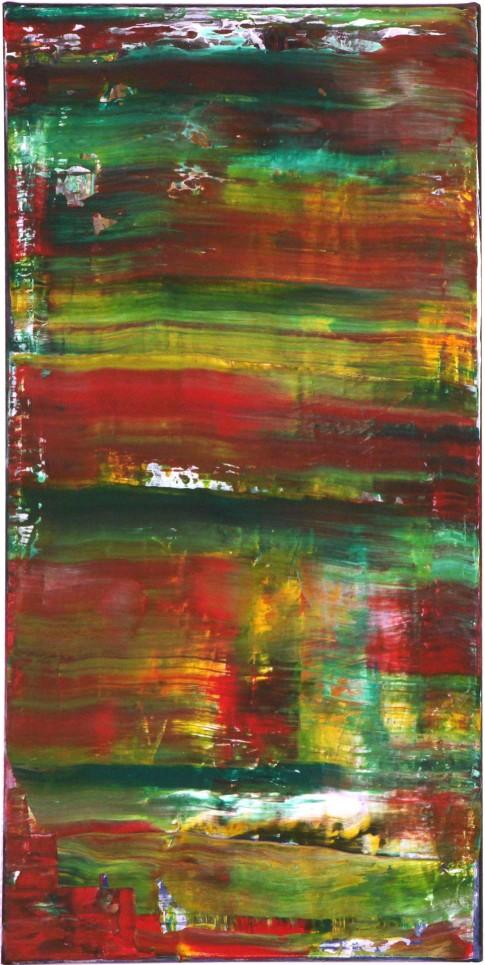 """""""Lichtblick im Wald"""", 2014, 50 x 100 cm, Acryl, Leinwand auf Keilrahmen (16)"""