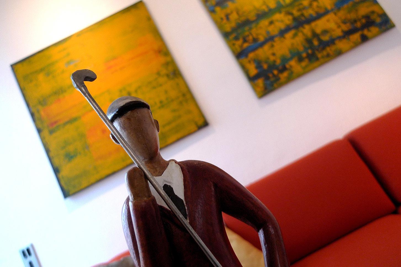Ambiente mit Golfspieler-Figur