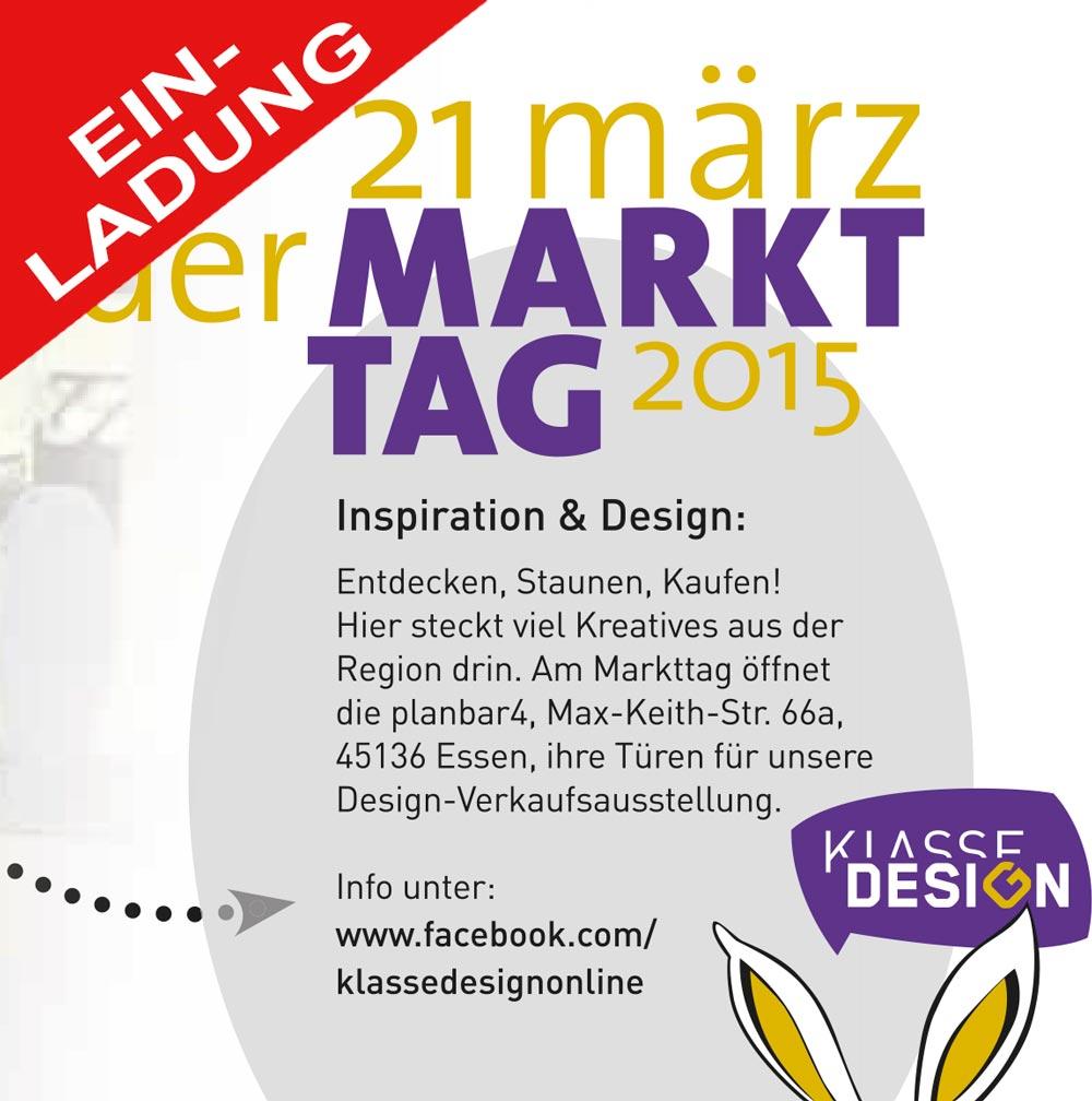Ausstellung Markttag am 31. März 2015